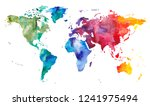 world map painted | Shutterstock . vector #1241975494