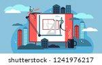 architect vector illustration.... | Shutterstock .eps vector #1241976217