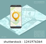 city map route navigation... | Shutterstock .eps vector #1241976364