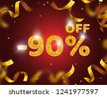 banner 90 off with share... | Shutterstock .eps vector #1241977597