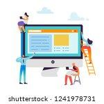 website development concept.... | Shutterstock .eps vector #1241978731
