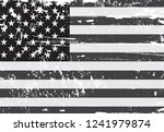 old dirty american flag.vector... | Shutterstock .eps vector #1241979874