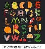 food alphabet. typography...   Shutterstock .eps vector #1241986744