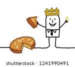 cartoon man eating a piece of... | Shutterstock .eps vector #1241990491