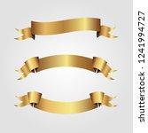 set of golden ribbons vector.   Shutterstock .eps vector #1241994727