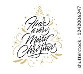 have a very merry christmas.... | Shutterstock .eps vector #1242006247