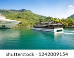 flam  norway   june 13  2018  ... | Shutterstock . vector #1242009154