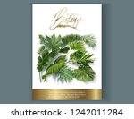 vector vertical banner with... | Shutterstock .eps vector #1242011284