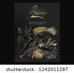 vector vertical banner with...   Shutterstock .eps vector #1242011287