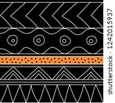 abstract seamless ethnic... | Shutterstock .eps vector #1242015937