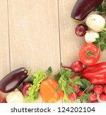 colorful vegetable frame | Shutterstock . vector #124202104