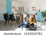 young  lovers boyfriend and... | Shutterstock . vector #1242024781