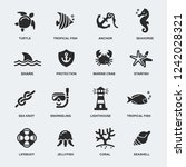 nautical icons set | Shutterstock .eps vector #1242028321