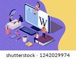 isometric concept creative... | Shutterstock . vector #1242029974