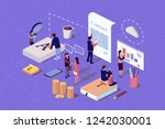 isometric concept the investor...   Shutterstock . vector #1242030001
