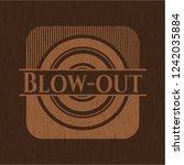blow out wooden emblem. vintage. | Shutterstock .eps vector #1242035884