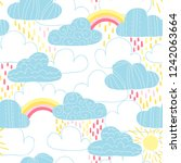 vector seamless pattern with... | Shutterstock .eps vector #1242063664