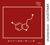 chemical formula icon.... | Shutterstock .eps vector #1242070684