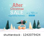 after christmas sale message... | Shutterstock . vector #1242075424