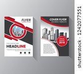 brochure design  cover modern... | Shutterstock .eps vector #1242077551
