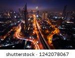 scenic of surreal of half moon... | Shutterstock . vector #1242078067