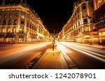 motion speed light trails in... | Shutterstock . vector #1242078901