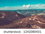 high carpathian mountains under ... | Shutterstock . vector #1242080431