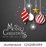 merry christmas calligraphic... | Shutterstock .eps vector #1242081094