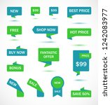 vector stickers  price tag ... | Shutterstock .eps vector #1242083977