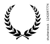 Laurel Wreath Icon. Emblem Mad...