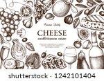 mediterranean cuisine design.... | Shutterstock .eps vector #1242101404