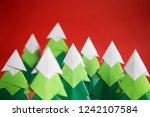 handmade origami paper craft...   Shutterstock . vector #1242107584