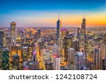 chicago  illinois  usa downtown ... | Shutterstock . vector #1242108724