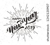 happy new 2019 year.vector... | Shutterstock .eps vector #1242120907