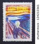 brazil   circa 1996  a postage... | Shutterstock . vector #124212361