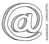 vector sketch commercial at... | Shutterstock .eps vector #1242125791