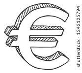 vector sketch currency symbol....   Shutterstock .eps vector #1242125794