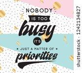 inspirational quote  motivation.... | Shutterstock .eps vector #1242134827