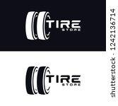 tyre shop logo design   tyre... | Shutterstock .eps vector #1242136714