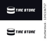 tyre shop logo design   tyre... | Shutterstock .eps vector #1242136717