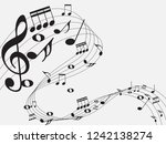 music notes .abstract musical... | Shutterstock .eps vector #1242138274