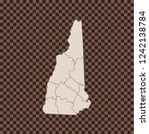 map of new hampshire   Shutterstock .eps vector #1242138784