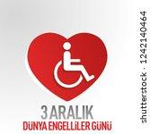 3 december world disability day. | Shutterstock .eps vector #1242140464