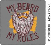 t shirt or poster design with... | Shutterstock .eps vector #1242144724
