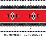 traditional folk sadu arabian... | Shutterstock .eps vector #1242150271