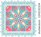 decorative colorful ornament on ... | Shutterstock .eps vector #1242152134