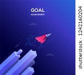 goal achievement   modern... | Shutterstock .eps vector #1242160204
