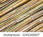 closeup reed mat. reed frame...   Shutterstock . vector #1242160657