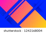 vector abstract background... | Shutterstock .eps vector #1242168004
