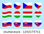 czech republic  hungary ... | Shutterstock .eps vector #1242175711